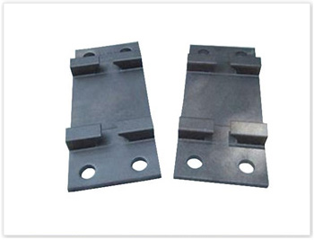 Rail tie plate by casting