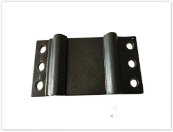 Rail tie plate by forging